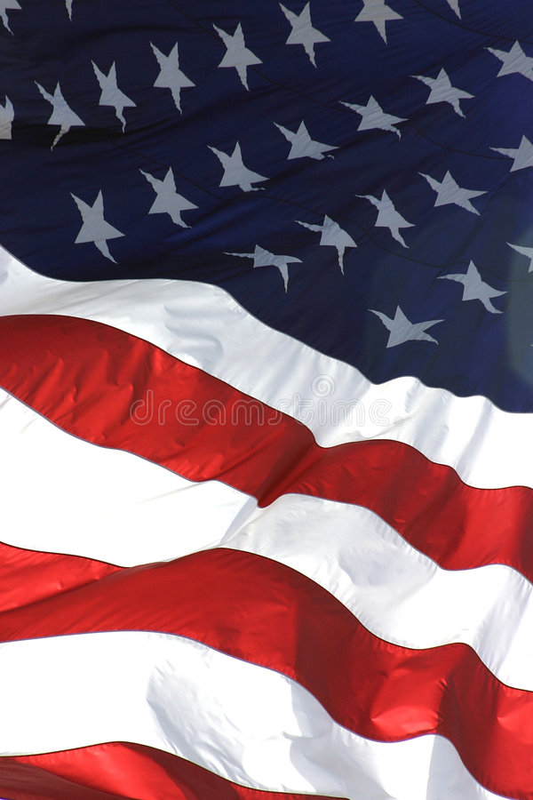 American Flag, Vertical View royalty free stock photos