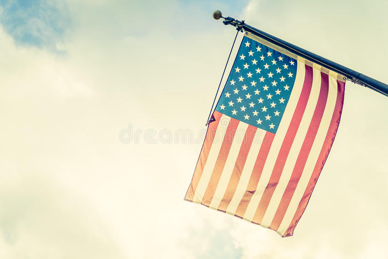 American flag. Vintage filter effect royalty free stock photo