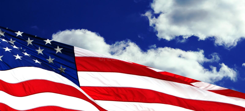 American flag waving royalty free stock photography