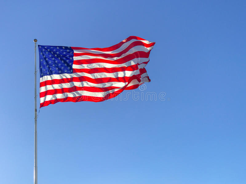 American flag waving. stock photography