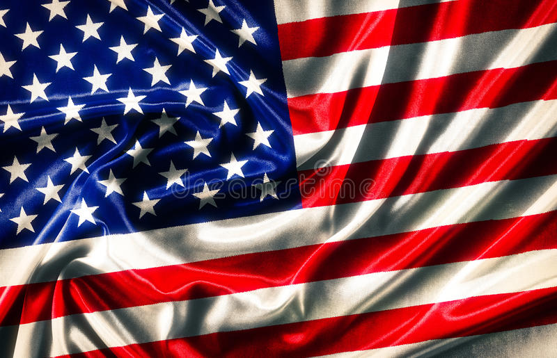 American Flag - waving fabric. Background, wallpapers, close-up royalty free stock photos