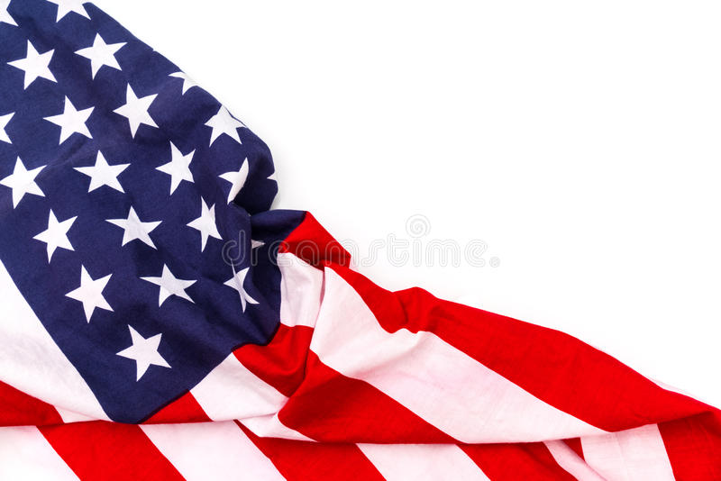 American flag on white background . American flag on white background stock images
