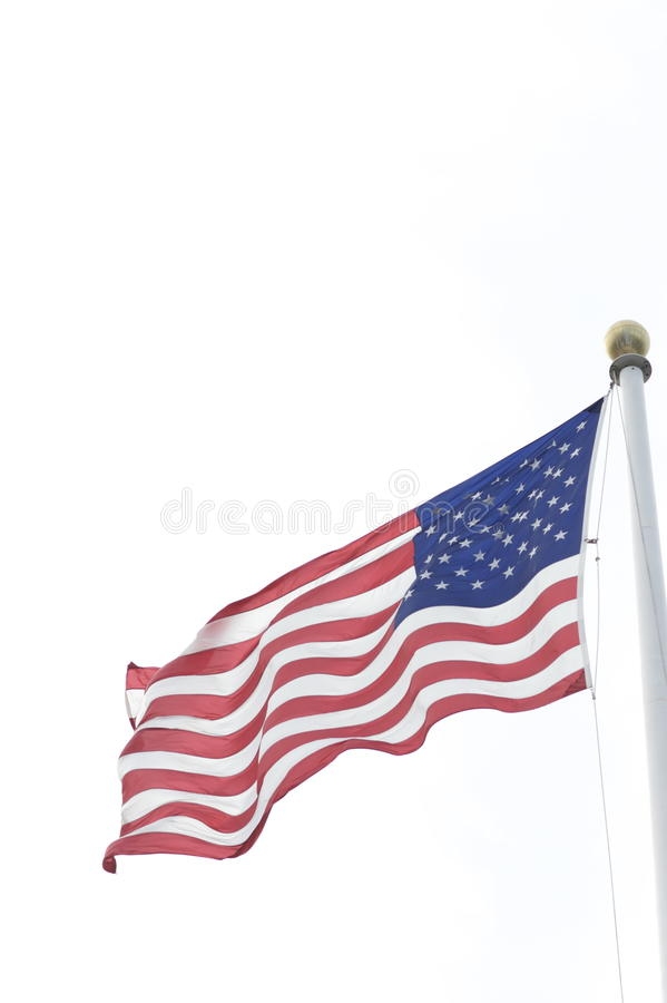 American flag in wind royalty free stock photo