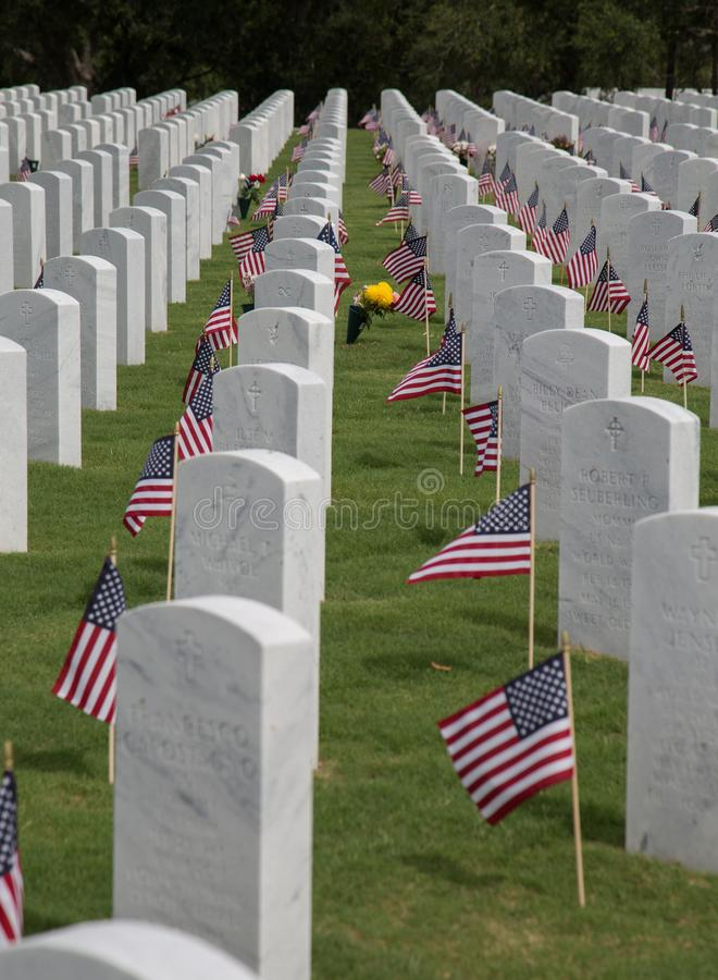American Flags At Cape Canaveral Cemetery stock images