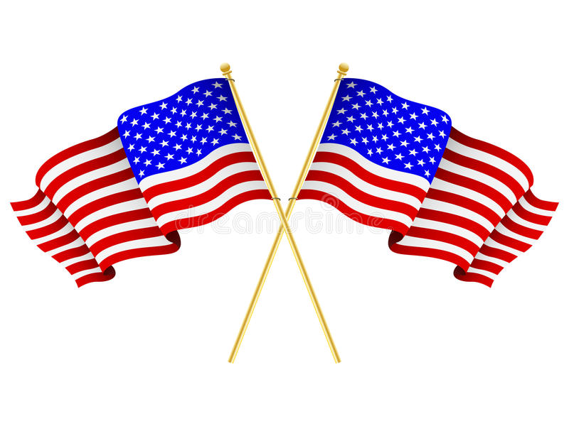 Download American Flags Crossed Royalty Free Stock Image - Image: 24777586