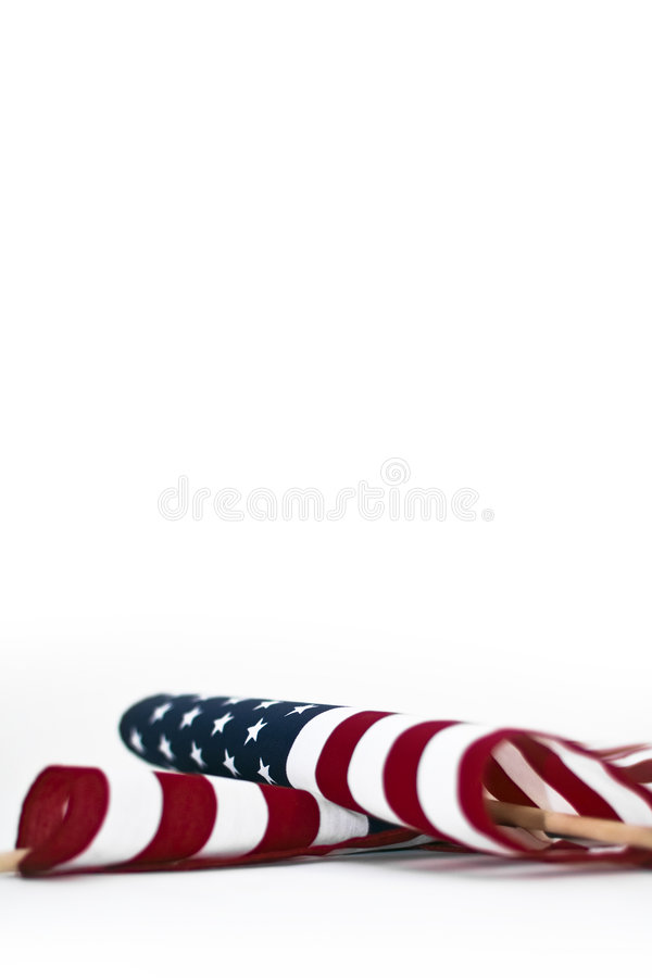 American Flags Isolated royalty free stock photo