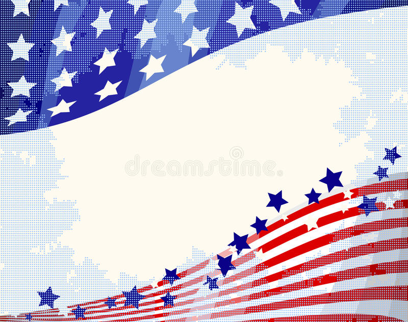 American Flowing Background Royalty Free Stock Photography