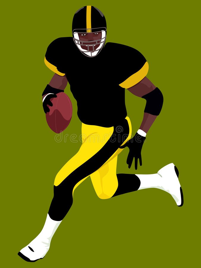 American Football 5 royalty free illustration