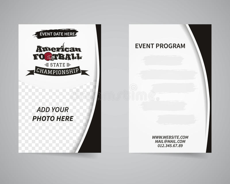 American football back and front flyer template stock vector download american football back and front flyer template stock vector illustration of banner modern spiritdancerdesigns Image collections