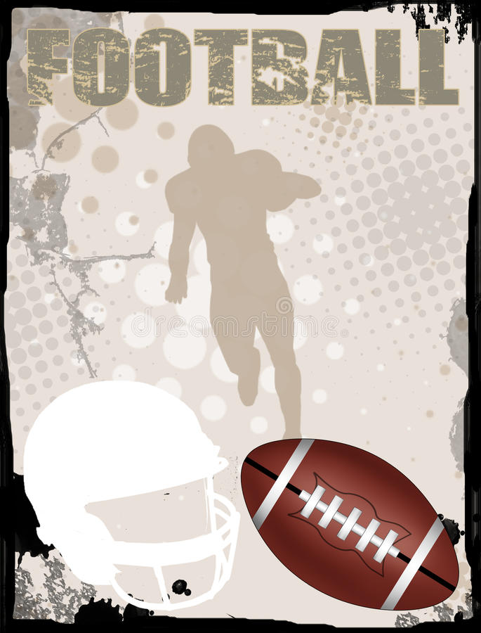 American football background royalty free illustration