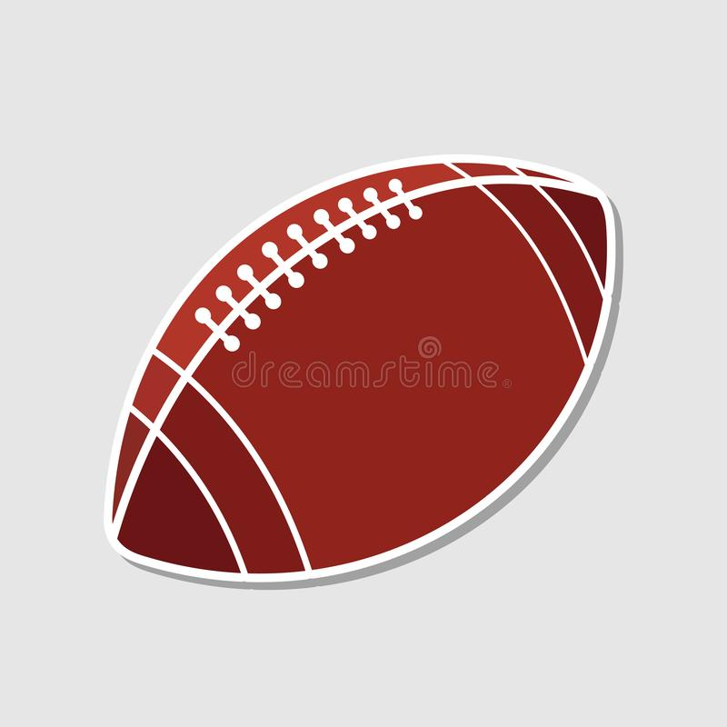 American football ball icon. Vector illustration royalty free illustration