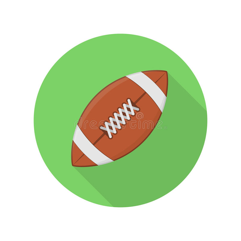 American football ball icon. stock illustration