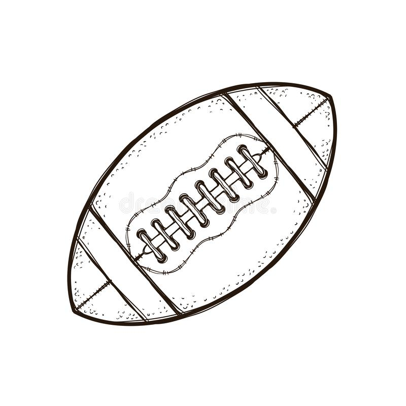 American Football Ball Isolated. Coloring Book Stock Vector - Illustration  Of Isolated, Football: 128262395