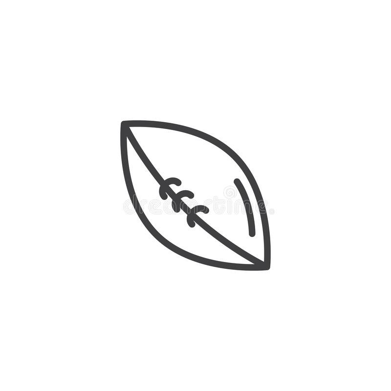 American football ball line icon stock illustration