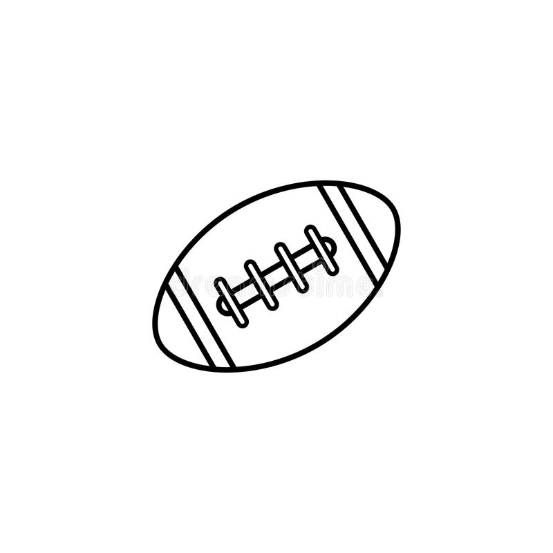 Download American Football Ball Line Icon, College Sport Stock Vector - Illustration: 92615459