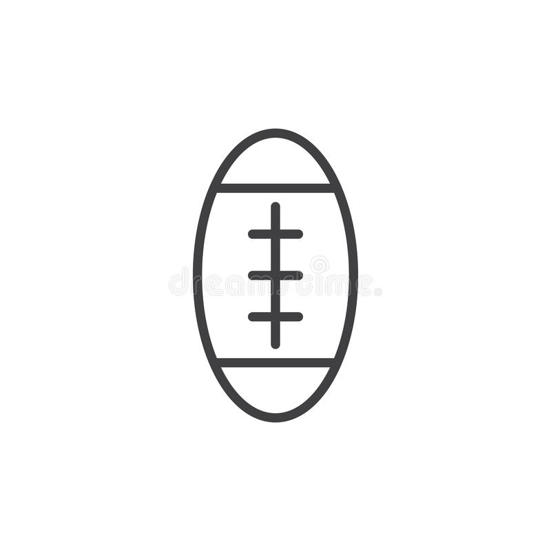 American football ball line icon, outline vector sign royalty free illustration