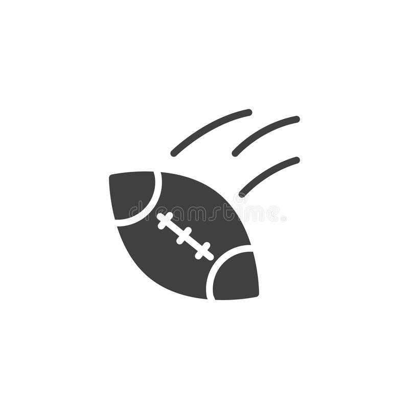 American football ball vector icon vector illustration