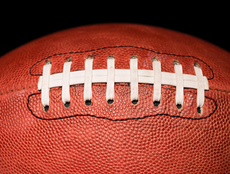 American Football Close on Black stock images