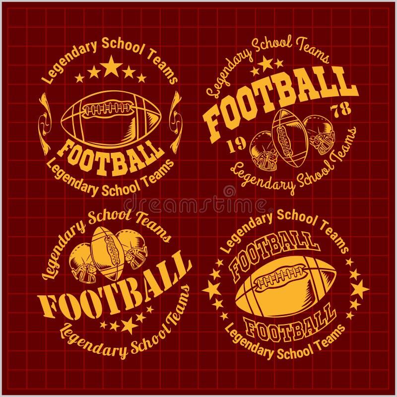 American Football Emblem, vector royalty free illustration