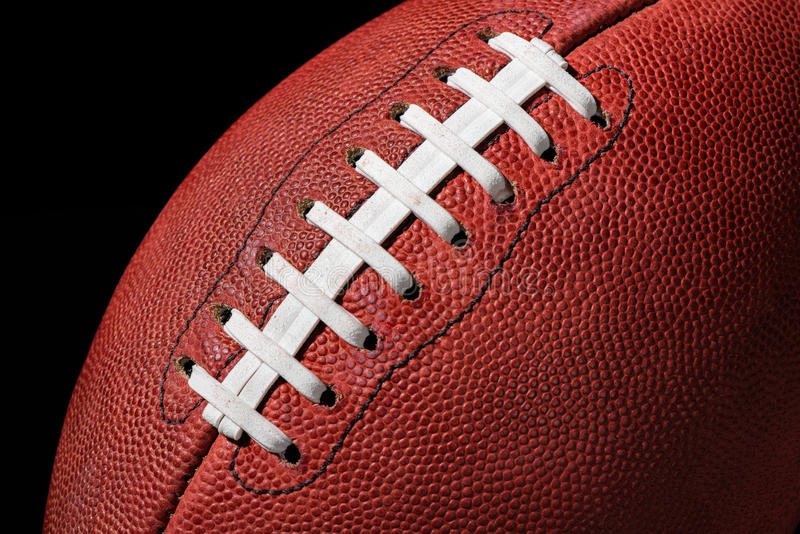 American Football Extreme Close Up stock image