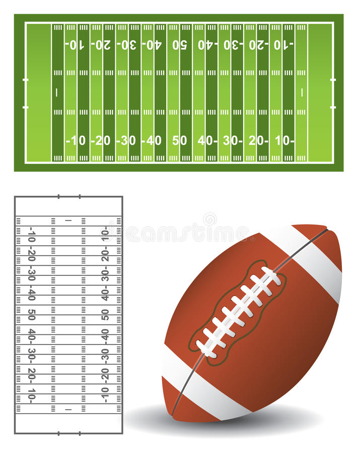 Download American football field stock vector. Image of stadium - 13091213