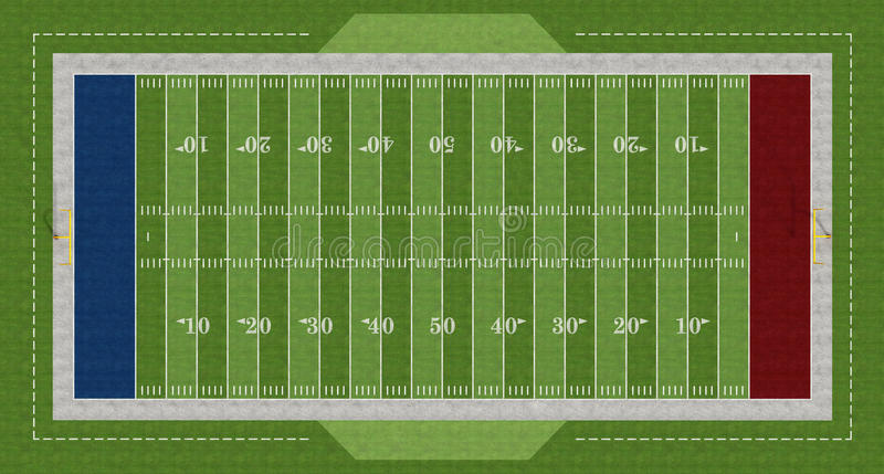 Download American  football field stock illustration. Image of field - 23090911