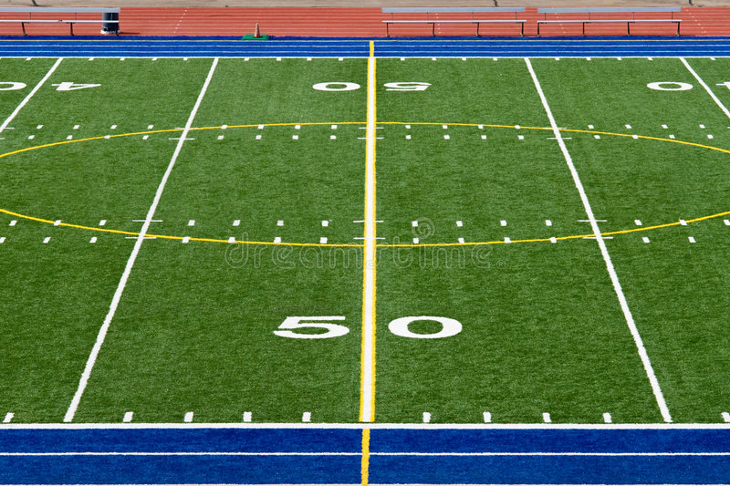 American Football Field royalty free stock photo
