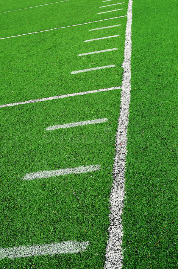 American Football Field Abstract Stock Photography
