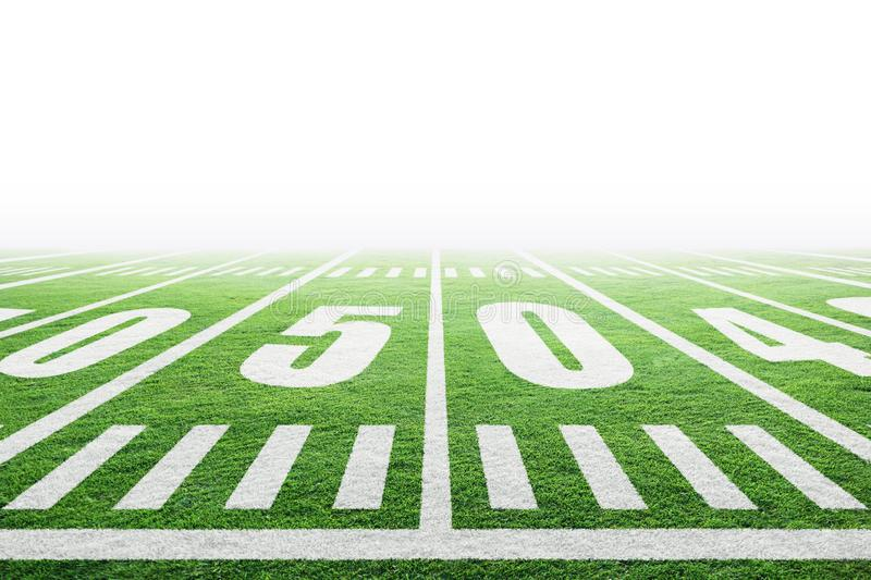 American Football Field With Background and Copy Space stock images