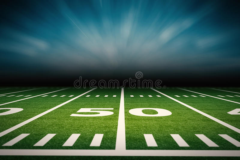 Download American football field stock photo. Image of turf, arena - 83122844