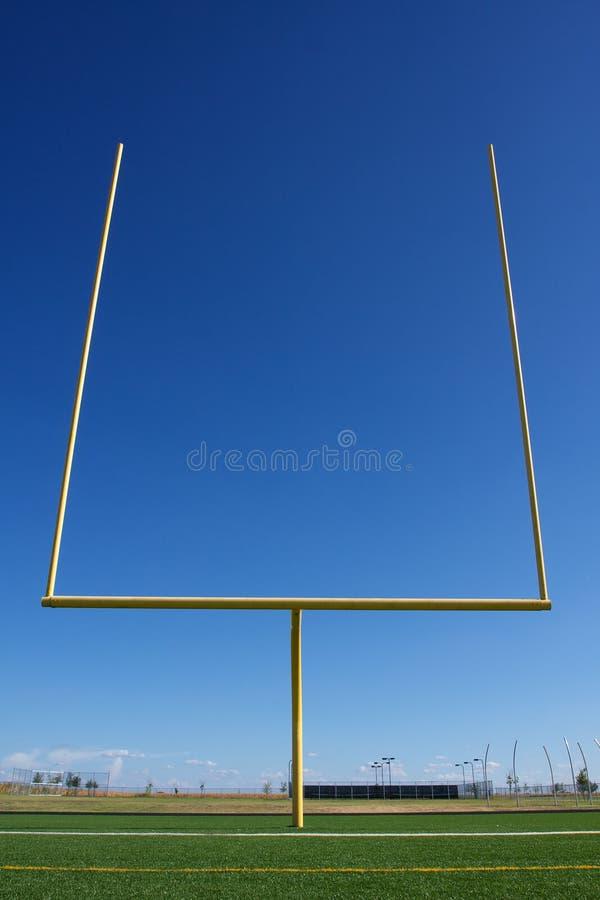 American Football Field Goal Posts stock image