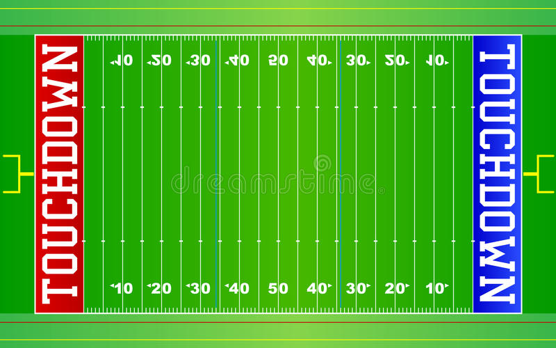 american football field nfl eps stock vector illustration of goals rh dreamstime com american football field diagram pdf american football field layout