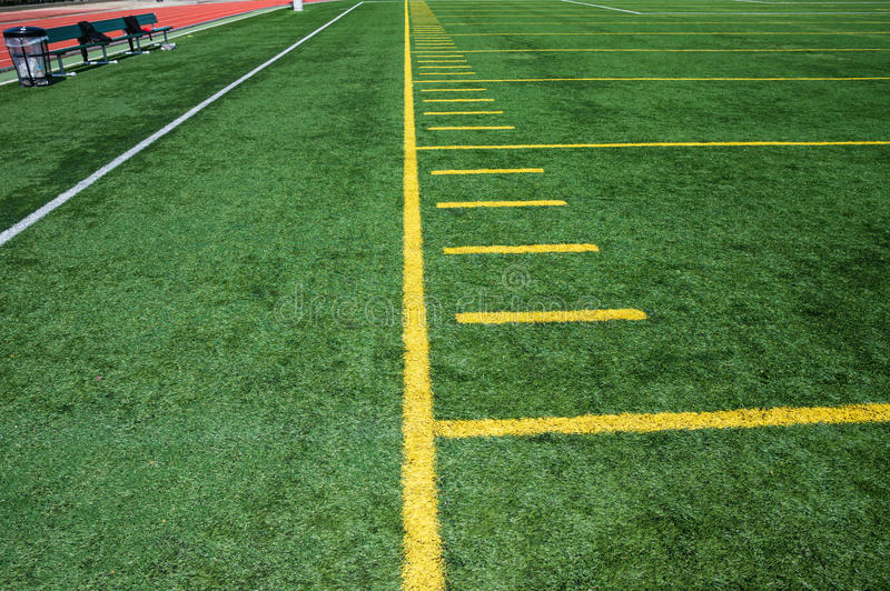 Download American football field stock image. Image of space, empty - 30639845
