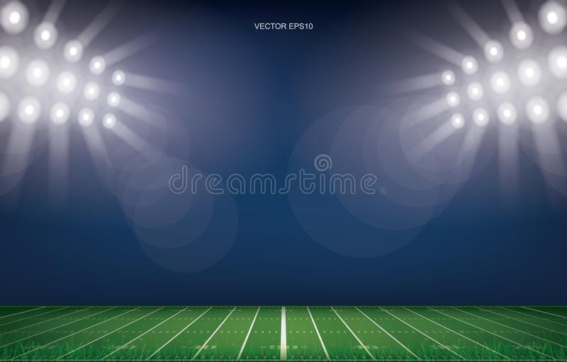American football field stadium background. stock illustration