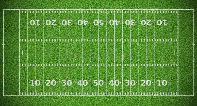 American football field royalty free stock photos