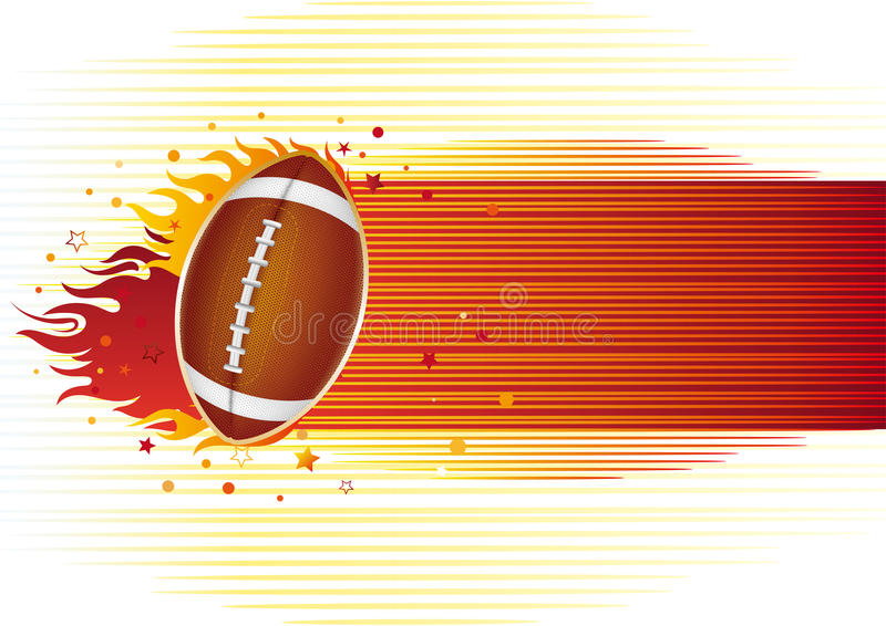 Download American Football With Flames Royalty Free Stock Image - Image: 15480436