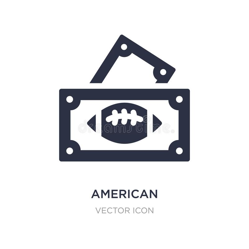American football game ticket icon on white background. Simple element illustration from American football concept. American football game ticket sign icon stock illustration