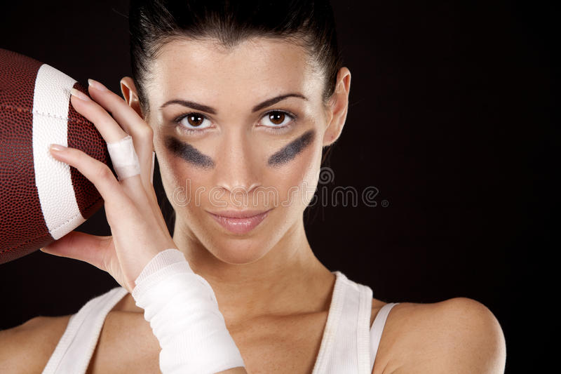 Download American football girl stock photo. Image of ball, healthy - 27750988