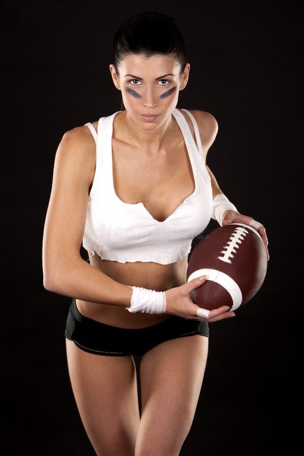 Download American football girl stock photo. Image of football - 27769852