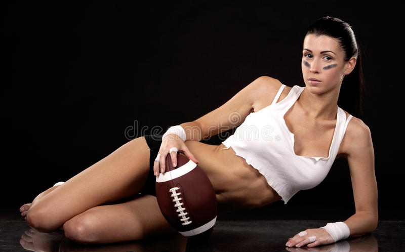 Download American football girl stock image. Image of female, black - 27793215