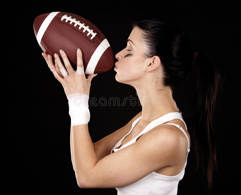 Download American football girl stock image. Image of girl, lady - 27898495