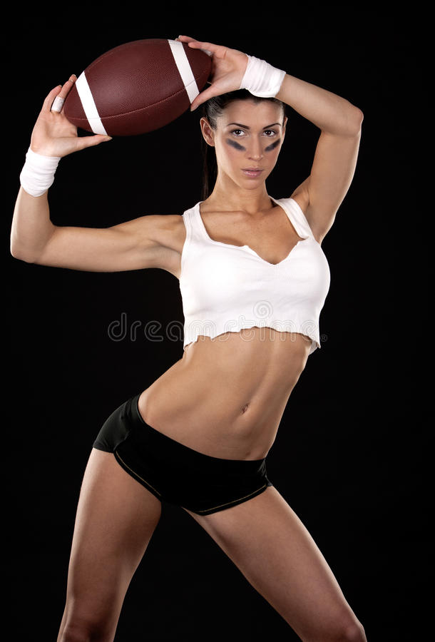Download American football girl stock photo. Image of athlete - 28148688