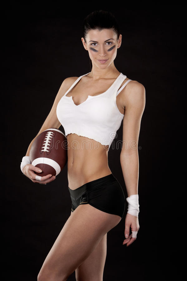 Download American football girl stock photo. Image of portrait - 28867268
