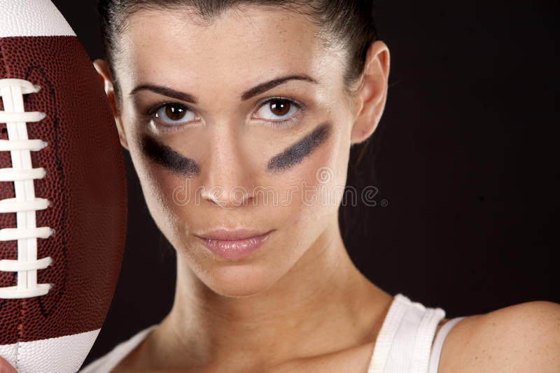 Download American football girl stock photo. Image of active, portrait - 28867302