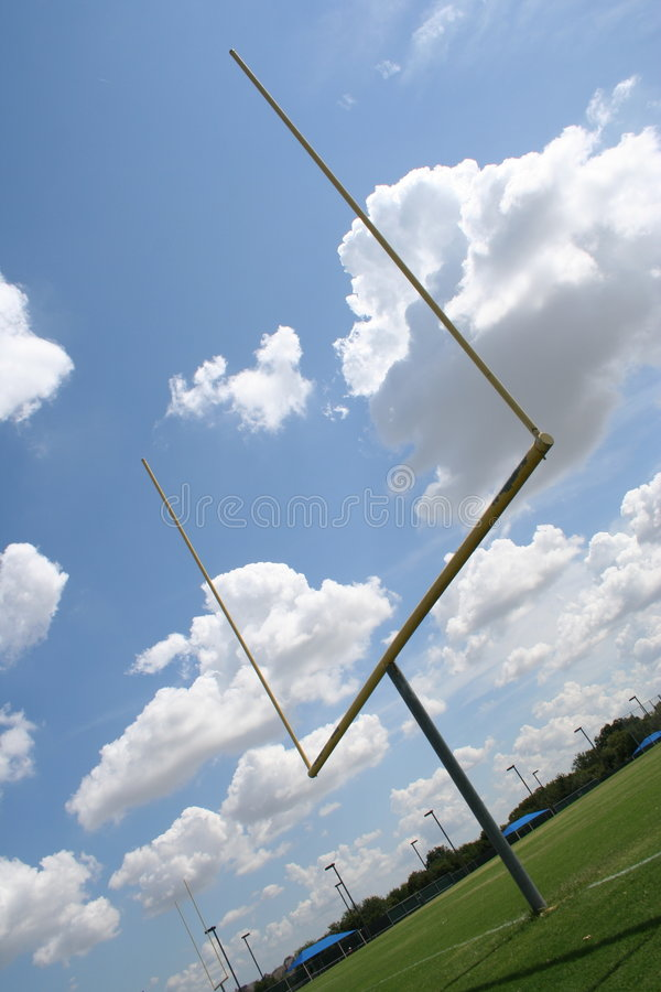 Download American Football Goal Posts Stock Image - Image of puffy, athletic: 3366999