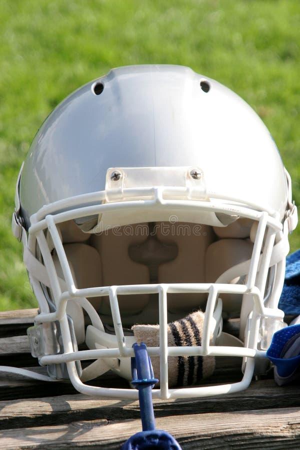 American football helmet royalty free stock photography