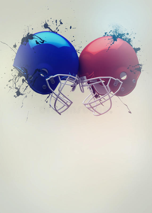 American football helmet background stock image