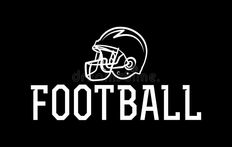 American Football Helmet Illustration. An American football helmet icon illustration. Vector EPS 10 available royalty free illustration