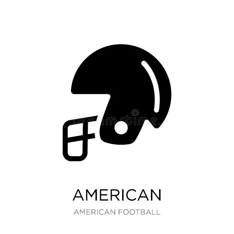 American football helmet icon in trendy design style. american football helmet icon isolated on white background. american. Football helmet vector icon simple stock illustration