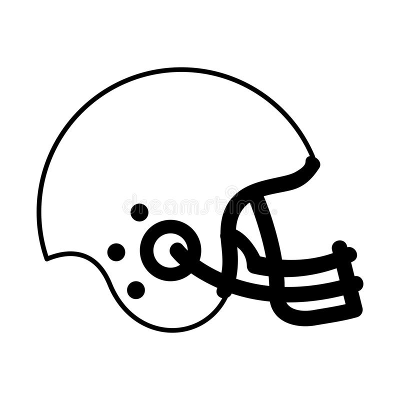 american football helmet icon stock vector illustration of element rh dreamstime com